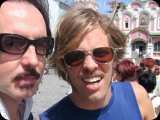 Taylor Hawkins and Butch Vig in Moscow