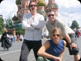 Taylor Hawkins, Eric Avery and Butch Vig in Moscow