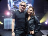 Rafaela with Chad Kroeger from Nickelback