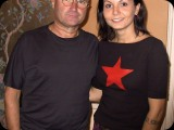 Rafaela with Phil Collins